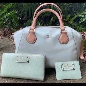 Kate Spade Mint Green Shoulder Bag Purse Wallet